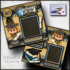 GRADUATION DAY BOY 2 Premade Scrapbook Pages paper printed layout album CHERRY