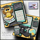 GRADUATION boy or girl 2 Premade Scrapbook Pages paper printed layout CHERRY