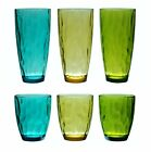 QG 14  23 oz Acrylic Plastic Water Cup Glass Tumbler Assorted Color Set of 6