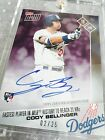 2017 TOPPS NOW #270C CODY BELLINGER DODGERS SIGNED AUTOGRAPH #2 25 FASTEST 21 HR