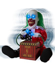 1 Ft Lil Zappy the Clown Prop Shakes Eye Light Up Animated Halloween Horror