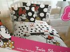 Disney Minnie Mouse Twin Sheet Set Classic Polka Dots  Cute Red Bow