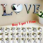 26 Letters DIY 3D Mirror Acrylic Wall Sticker Decals Home Decor Wall Art Mural Y