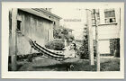 799 Alls Well With the World Man in a Hammock Dog Vintage Gay Int Photo