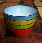 Fire King Anchor Hocking Retro 50s 60s Soup Cereal Bowls Multi Color Kichen Ware