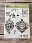 Stampin Up EMBELLISHED ORNAMENTS Retired Rubber Stamps Scrapbooking Christmas