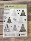 Stampin Up PEACEFUL PINES Retired Rubber Stamps Scrapbooking Handmade DIY