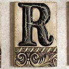 Alphabet Tile Plaque Letter R