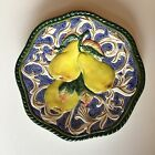 Florentine Fruit Blue by Fitz & Floyd Classics Pear Canape Plate Wall Hanging