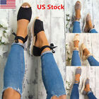 US Womens Ladies Flat Lace Up Sandals Espadrilles Summer Chunky Holiday Shoes