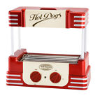 Red Plastic 280-w 5-Non-Stick Stainless Steel Rollers Hot Dog Roller Machine