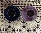 Fiestaware Lilac and cobalt Stick Handled Demi cup and saucer set. Price is for