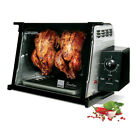 Stainless Steel 1,250-Watt Precise Rotation Speed Countertop Rotisserie Oven