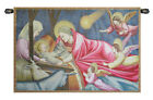24x34inch Italian Woven Tapestry Wall Hanging Nativity Giotto Italian