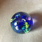 SIGNED ART GLASS ROUND GLOBE PLANET PAPERWEIGHT