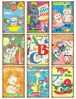9 Retro Kids Coloring Book Cover Hang Tags Scrapbooking Paper Crafts 355