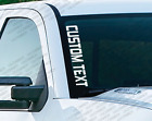 Custom Text - Windshield Vinyl Vertical Decal Sticker Ford Jeep Wrangler Ps23