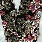 One Size Multi Color Paisley Leggings OS 2 10 Buttery Soft Black Skinny
