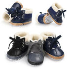 Winter Girls Boys Soft Sole Leather Snow Boots Warm Crib Anti slip Toddler Shoes