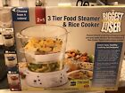 The Biggest Loser 2 In 1 3 Tier Food Steamer And Rice Cooker