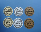 24 round personalized Bridal shower or Wedding favor tags Let Love Grow