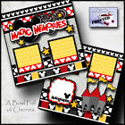 MAGIC MEMORIES DISNEY 2 premade scrapbook pages paper piecing printed CHERRY