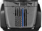 Distressed Blue line flag Hood vinyl sticker decal Fits Jeep Wrangler Police SF7