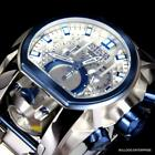 Invicta Reserve Bolt Zeus Magnum Swiss Steel Silver Blue 2 Dials 52mm Watch New