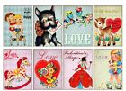8 Vintage Retro Valentine Hang Tags ATC Cards Scrapbooking Paper Crafts 111