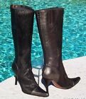 Donald Pliner Pewter Metalic Leather Hair Calf Boot Shoe New Coutoure 595 NIB