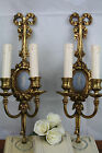 Pair Antique Ormolu Sconces jasperware-wedgwood Plaques porcelain circa 1890
