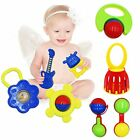 BabyPrice Baby Teether Toy Set for Infant Toddler Rattles Eco Friendly Non To