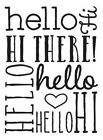 DARICE Craft 4 x 6 A2 Size Embossing Folder Tool HELLO Words BACKGROUND