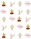 Religious Christmas Waterslide Water Transfer Nail Decals Nail Art
