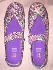 ZEE ALEXIS SAMMI Multicolor Weave Mary Jane Shoes SIze 10 us 41 eu