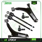 Front Upper Control Arm w Ball Joint Inner Outer Tie Rod For 95 1997 Geo Metro