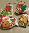 Vintage Enesco Garfield plush Christmas ornaments hard to find