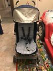Maclaren Techno XLR Blue fabric grey chassis Single Seat Stroller