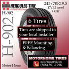 Rv Tires 195 Motor Home Tires 245 70R195 Includes Shipping  Installation