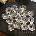 LOT 16 VINTAGE CRYSTAL CHANDELIER BOBECHE BEAUTIFUL BOBECHES