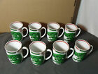 (8) Fitz and Floyd Dragon Crest Mugs, Green, Great Condition! Look to be NEW