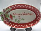 Vintage Fitz & Floyd Winterberry Red cardinal Merry Christmas Cookie Dish