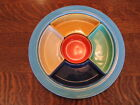 Vintage Fiesta Turquoise Relish Tray-Complete 6 color set-Excellent