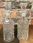 Vinegar Cruets Anchor Hocking Wexford Glass Bottles with Stoppers