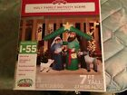 Airblown Inflatable HOLY FAMILY NATIVITY SCENE 7 tall Lights up BRAND NEW