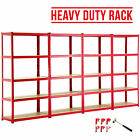 BN 4 Bay Heavy Duty 5 Tier Shelf Garage Shelving Unit Steel Racking W/ Mallet