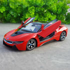 BMW I8 124 Model Cars Toys CollectionGift Front Steering Red New Alloy Diecast