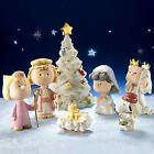 Lenox The Christmas Pageant PEANUTS Snoopy Nativity 7 pc Figurine COA NIB