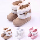 Newborn Baby Infant Girls Snow Boots Cotton Soft Sole Warm Prewalker Crib Shoes