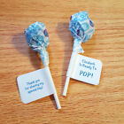 60 Personalized Baby Shower Lollipop Candy Wrappers Favor Labels Stickers Glossy